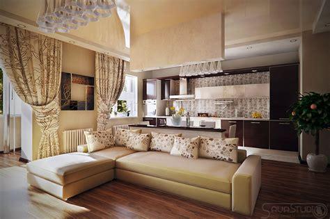 interior design ideas for living room and kitchen neutral living room diner kitchen interior design ideas