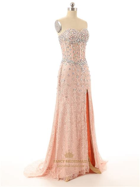 pink beaded dress pink strapless beaded corset sweetheart neckline lace