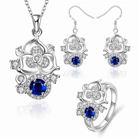 free jewelry free shipping gorgeous silver plated jewelry sets climbing
