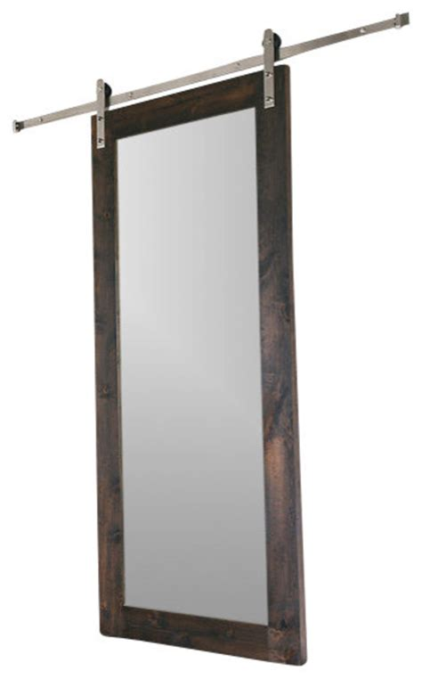 mirrored barn door modern mirror barn door modern interior doors by