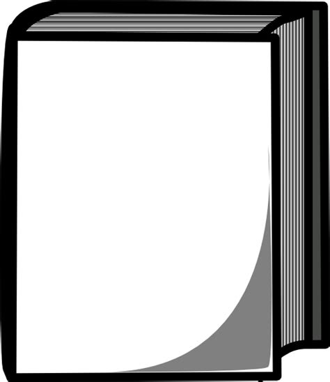 black and white pictures of books white book clip at clker vector clip
