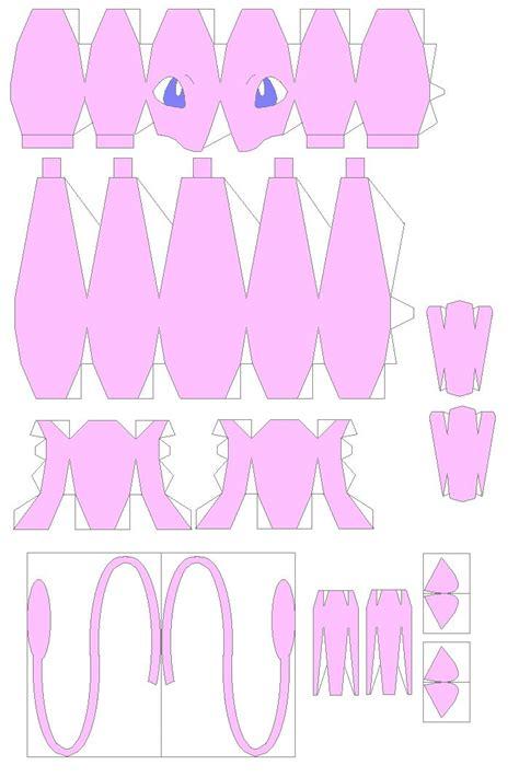 mew origami papercraft templates jetlogs org 187 mew