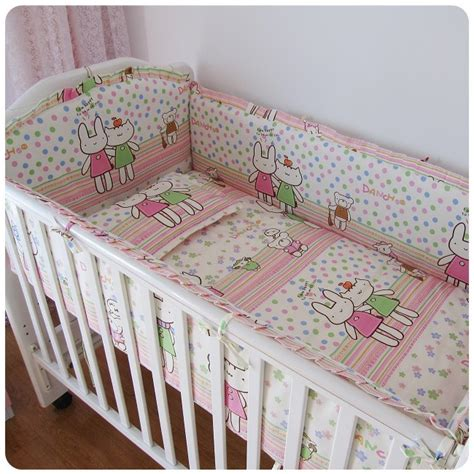 cot bedding and bumper sets promotion 6pcs baby crib cot bedding set crib bumper