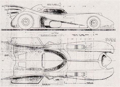 make blueprints build your own 1989 batmobile using these blueprints