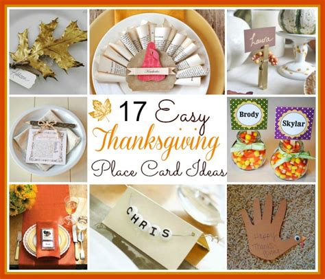 how to make thanksgiving place cards 17 crafty thanksgiving place card ideas diy cozy home