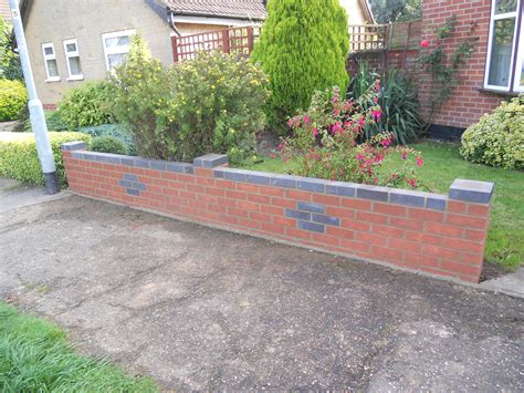 brick walls for gardens garden wall at wymondham norfolk