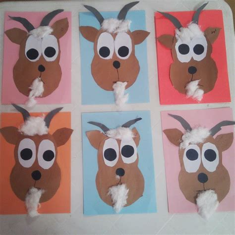goat crafts for farm animals craft idea for crafts and worksheets