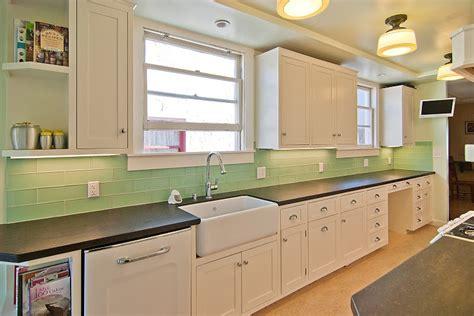 green glass subway tile backsplash tile kitchen backsplash ideas with white cabinets home