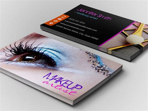 card make up makeup artist business cards templates fre business