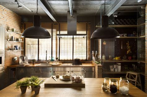 Make A Kitchen Island industrial lofts turned into homes kitchen island loft