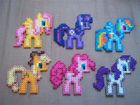 my pony perler perler and ponies on