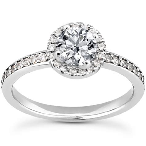 bead set diamonds prong and bead set engagement ring with bead set