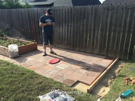 how to install a paver patio how to install a paver patio the foundation of my raised