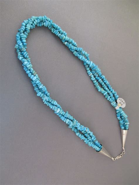 how to make turquoise jewelry 3 strand turquoise necklace two grey