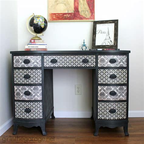 decoupage a desk decoupage desk themed furniture makeover day