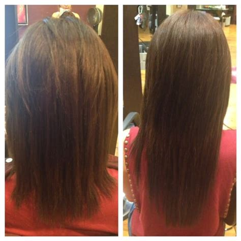 micro bead hair extensions on hair before and after micro bead extensions before and after by maka yelp