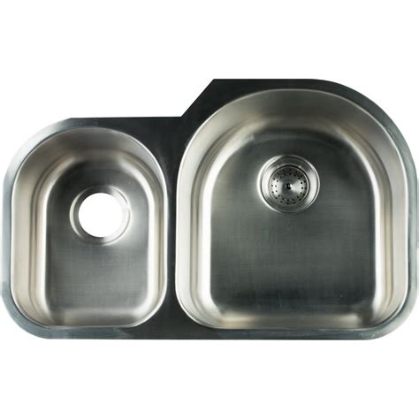 glacier bay stainless steel kitchen sink glacier bay undermount stainless steel 31 in 0