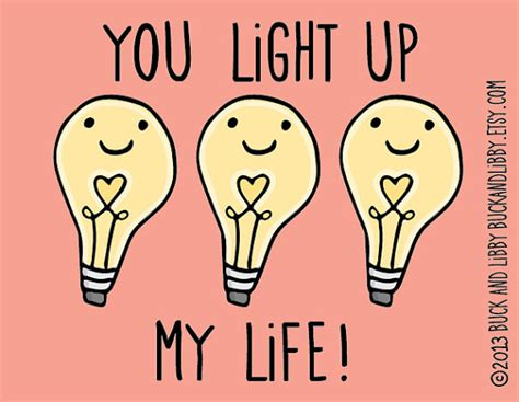 light up your you light up my illustration print by buck by