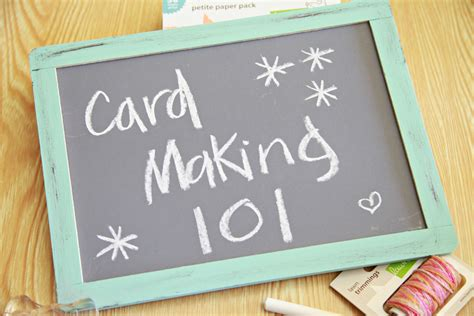 make cards unify handmade card 101 chapter 1