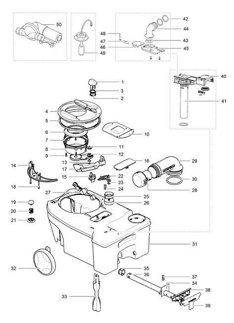 CaravansPlus: Spare Parts Diagram   Thetford C250 / C260 Cassette Toilet   Holding Tank