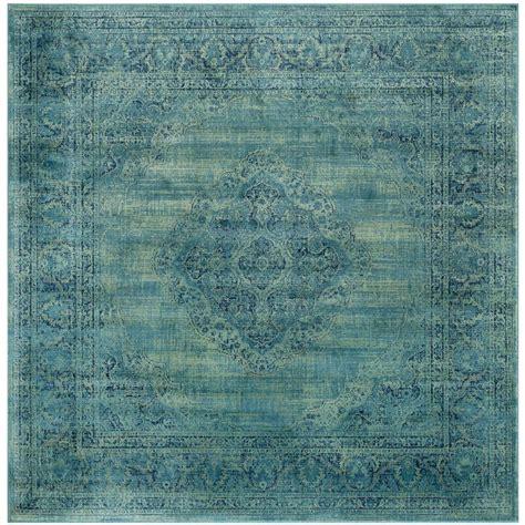 8 ft rugs safavieh vintage turquoise multi 8 ft x 8 ft square area