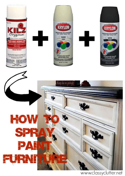 spray paint how to how to spray paint furniture clutter