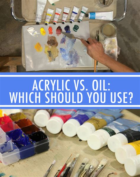 how to paint using acrylic paint on canvas vs acrylic when to use each type of paint