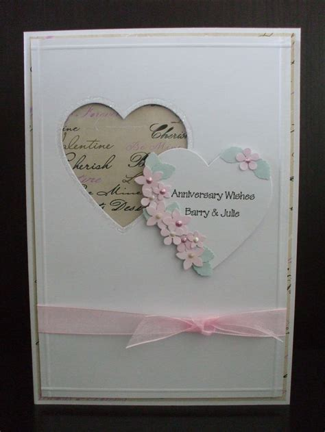 make anniversary card 25 best ideas about handmade anniversary cards on