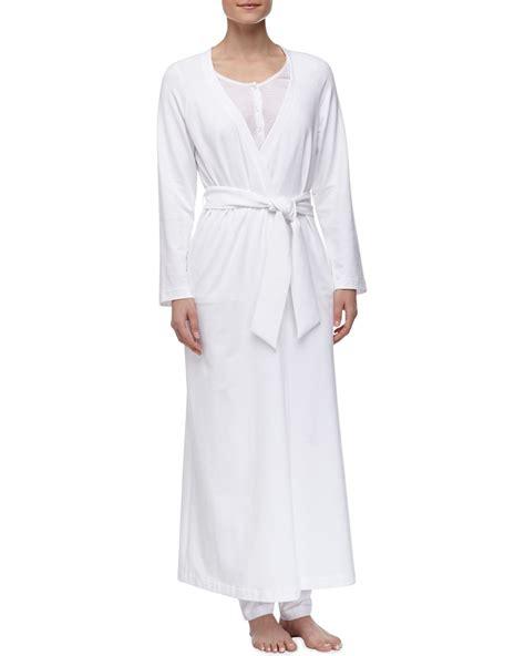 knit robe la perla stretch knit robe white in white lyst