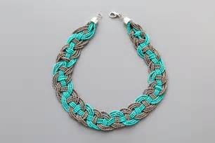 how to make a beaded necklace with a clasp diy woven bead statement necklace diy craft projects