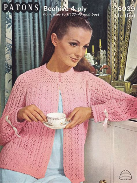 knitted bed jackets free patterns bed jacket and bedwear vintage knitting patterns from the