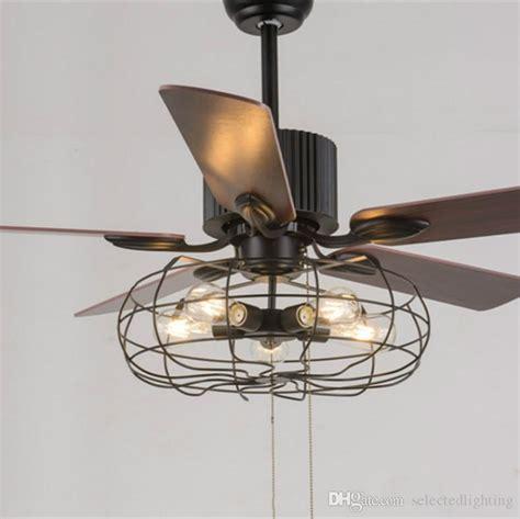 vintage ceiling fan with light 2018 loft vintage ceiling fan light e27 edison 5 bulbs