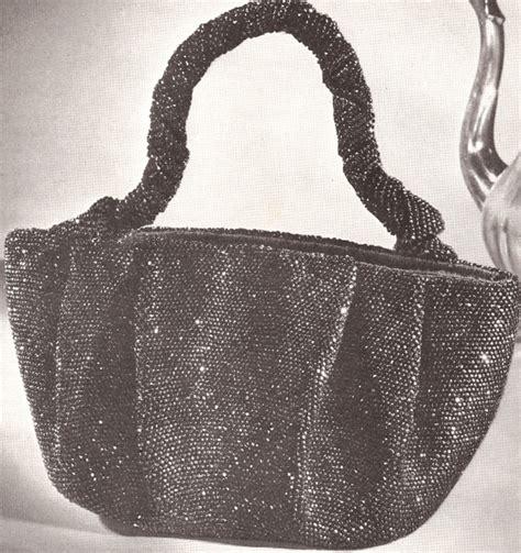 crochet beaded bag pattern vintage 1940s crochet beaded bag purse handbag pattern ebay
