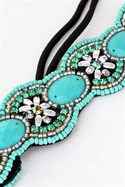 seed bead headbands seed bead flower detailed headband hair accessories