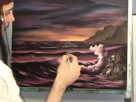 bob ross acrylic painting lesson seascape painting lesson