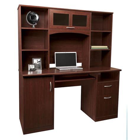 landon desk with hutch oak realspace 174 landon desk with hutch 64 quot h x 55 1 2 quot w x 23 quot d
