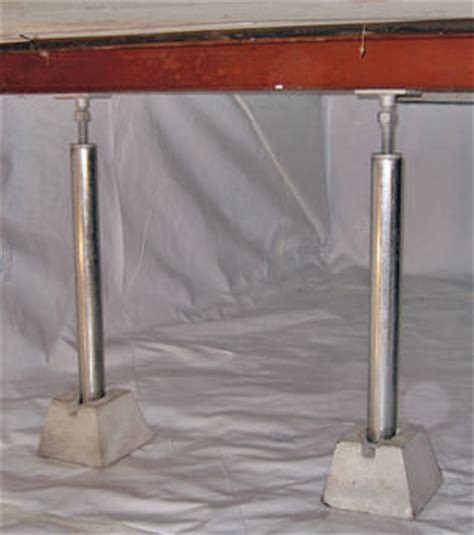 basement support posts crawl space support posts in mid western and northern