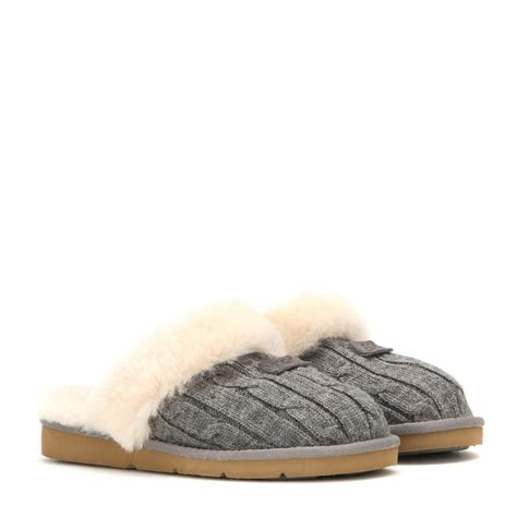 cozy knit ugg slippers ugg cozy knit slippers in gray lyst