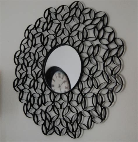 craft ideas using toilet paper rolls toilet paper roll mirror totally green crafts