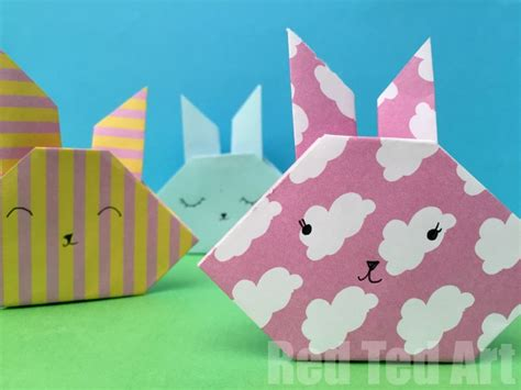 easy rabbit origami easy origami bunny how to ted s ted