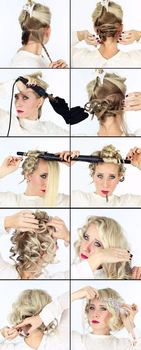 how to do easy 1920s hairstyles for mid hair with fringe 17 best ideas about 1920s hair tutorial on pinterest