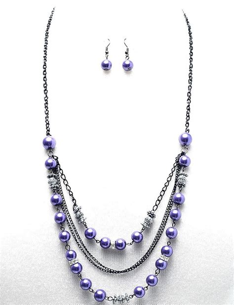 beaded necklaces ideas arianna beaded necklace purple