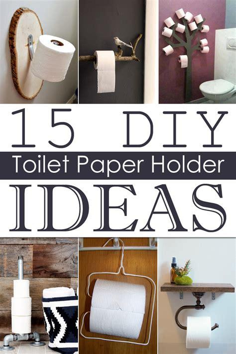 Toilet Paper 15 by 15 Diy Toilet Paper Holder Ideas