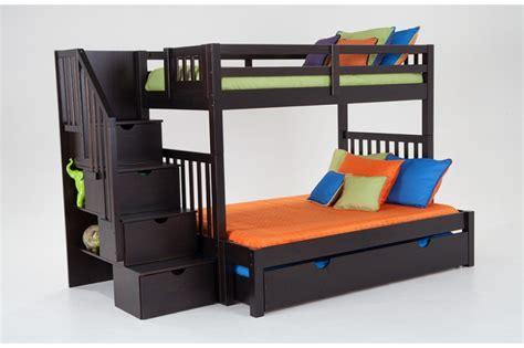 stairway bunk beds keystone stairway bunk bed with storage trundle