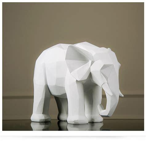 white elephant origami nordic geometry origami black and white elephant figurine