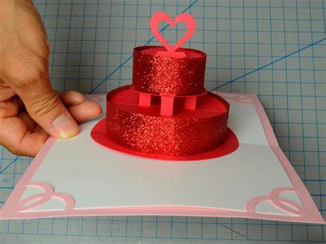how to make birthday cake pop up card how to make a birthday cake or wedding cake pop up card