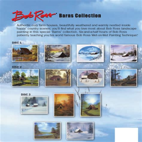 bob ross painting dvd set bob ross barns collection dvd ken bromley supplies