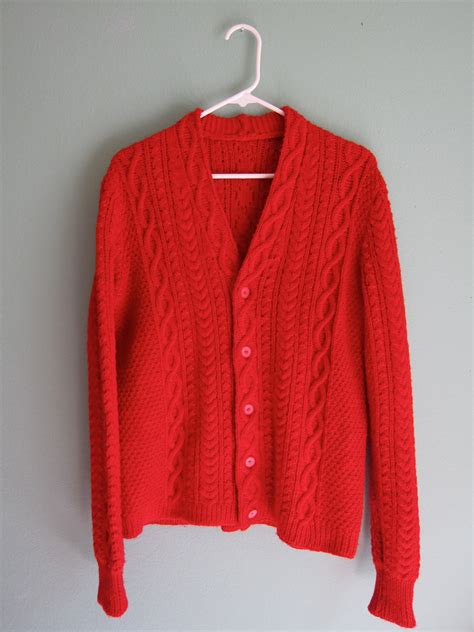 cable knit sweater cardigan vintage cardigan vintage cable knit sweater by
