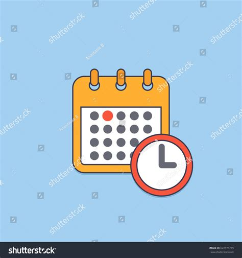 vector calendar deadline reminder symbol meeting stock