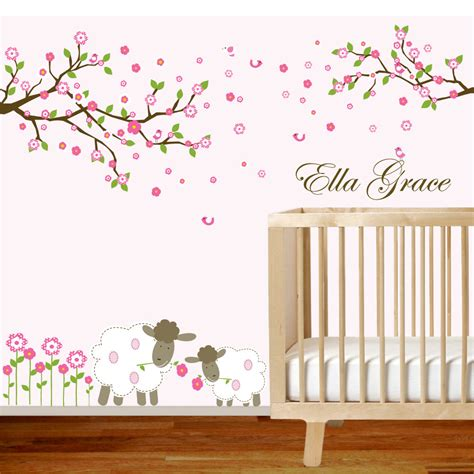 vinyl wall decals nursery vinyl wall decal branch set nursery wall decal sticker with
